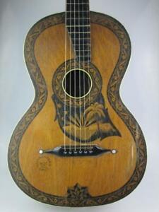 Rare Vintage Parlour Fasan Acoustic Guitar Circa 1930 Germany