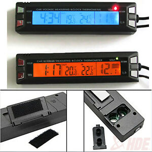 Car-Auto-LCD-Digital-Clock-Thermometer-Temperature-Voltage-Meter-Battery-Monitor