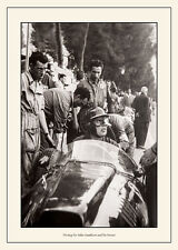 """Mike Hawthorn-""""Pit stop in his Ferrari"""" Vintage Photograph"""