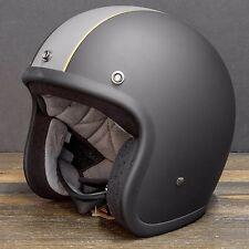 XL Biltwell Bonanza Racer Black open face Helmet bobber chopper NEW open box