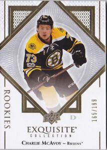 17-18-UD-Exquisite-Charlie-McAvoy-199-Rookie-Bruins-Rookies-2017
