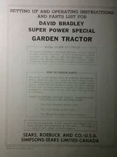 David Bradley Sears 917575105 Garden Tractor Amp Plow Owners Amp Parts 2 Manuals