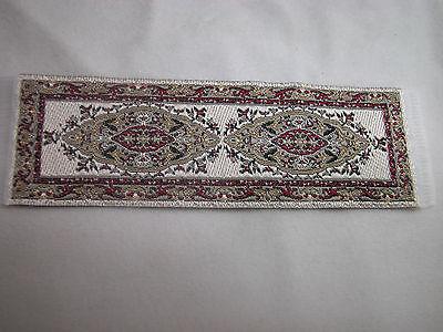 "1.25""x4"" #21 Dollhouse Miniature Floor  Carpet Runner Woven Rug"