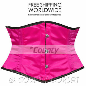 a365f2105e Shaper Mini Waspie Cincher Full Steel Boned Waistbust Sexy Hot Pink ...
