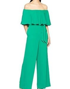 55e980a374 Image is loading Coast-Naima-Bardot-Jumpsuit-in-Bold-Green-UK-