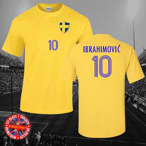 Gift World Cup Euros Sweden Inspired  Zlatan Ibrahimović Football T-shirt