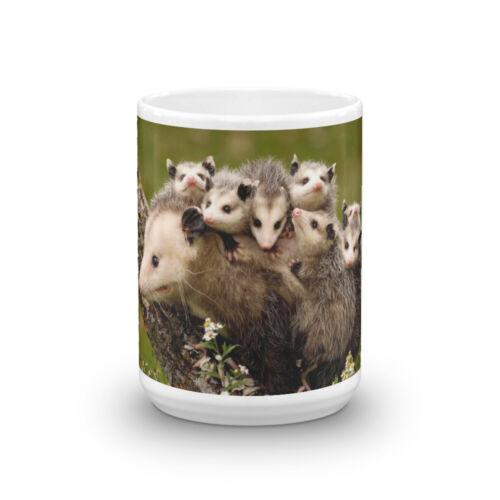 Opossum with Babies on Back Coffee Mug