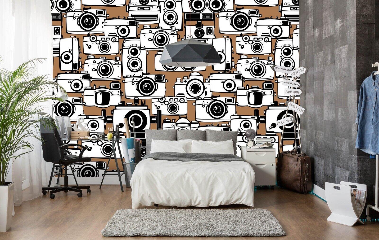 3D Weiß Cartoon Camera 97 Wallpaper Mural Paper Wall Print Murals UK Lemon