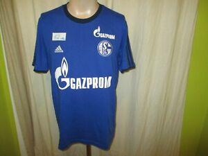 FC-Schalke-04-Adidas-Spieler-Freizeit-Training-T-Shirt-2014-15-034-GAZPROM-034-Gr-M