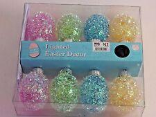8 LED Pink Yellow Blue Easter Egg Light Set Basket Wreath Holiday Decoration