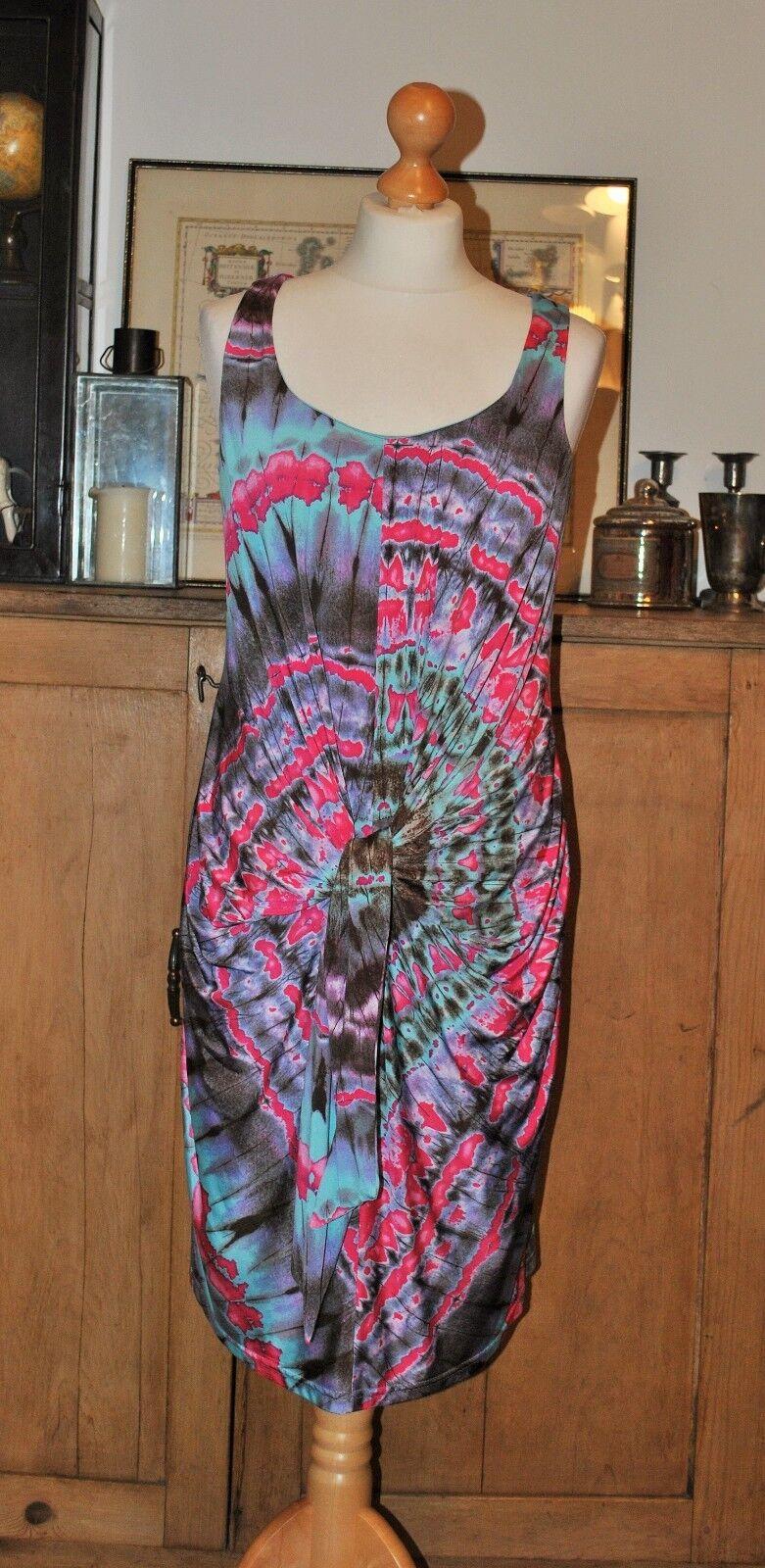 LADIES DESIGNER JOSEPH RIBKOFF MULTI COLOUR DRESS Größe UK10