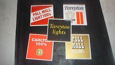 Vintage Cigarette Vending Machine Labels Original  pall mall carloton tareyton