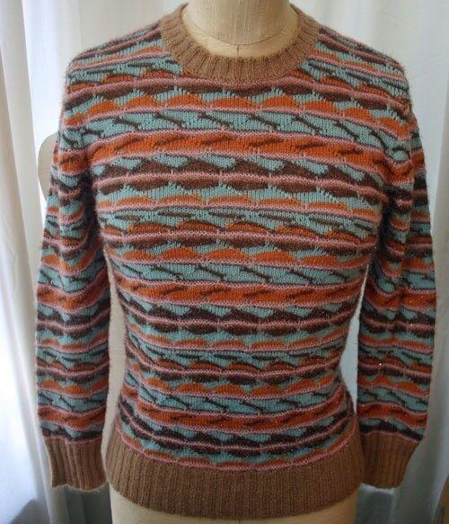 Vintage MISSONI Multi color Multi Knit Sweater 38