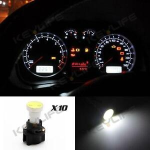 10 for ford instrument panel cob led light bulbs with pc74 t5 sockets white kit ebay. Black Bedroom Furniture Sets. Home Design Ideas
