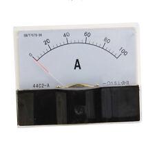 Dc 0 100a Scale Range Current Panel Meter Amperemeter Gauge 44c2 Ammeter Analog