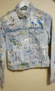 ZARA-VERY-RARE-SOLD-OUT-LIMITED-EDITION-DENIM-PAINTED-JACKET-S-REF-6688-221