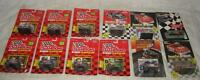 Lot Of 12 Racing Champions Nascar Stock Car With Collectors Card 1:64