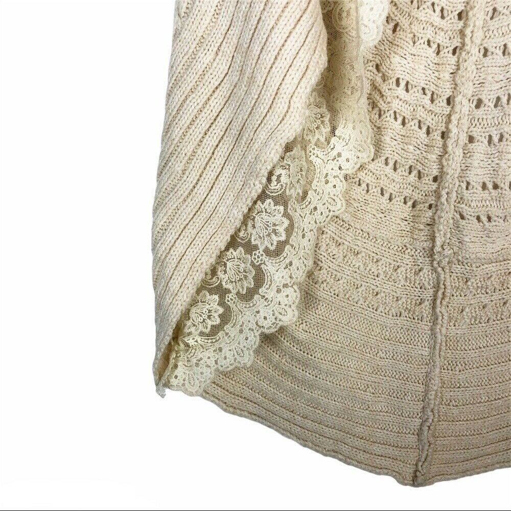 Flying Tomato cream lace crochet sweater vest - image 8