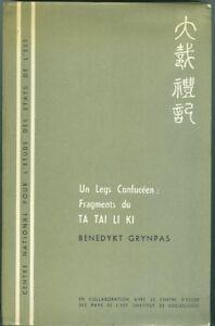 Un-Leg-Confuceen-Fragments-du-Ta-Tai-Li-Ki-par-B-Grynpas-1967