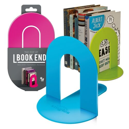 The Pop-up Book End Singles, Folds up and Holds up your Books, Various Colours