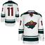 Zach-Parise-Minnesota-Wild-11-stitched-jersey-white-green-men-039-s-player-game thumbnail 5