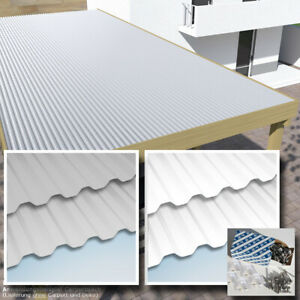 Dachplatten 3x7 m Lichtplatten Set weiss oder grau hagelfest bis 4 cm Korn-Ø