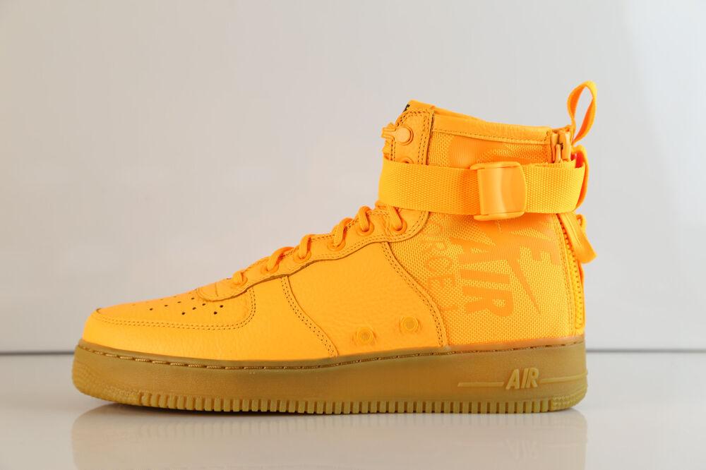 Nike SF AF1 AF1 AF1 Mid OBJ Laser Orange Gum 917753-801 8-15 special force air 1 Chaussures de sport pour hommes et femmes 3cd20d