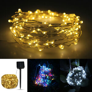 san francisco f4a4c 210a6 Details about 10M 20M 30M LED Solar String Lights Waterproof Copper Wire  Fairy Outdoor Garden