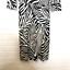 miniature 5 - Diane von Furstenberg Silk Dress Sz 2 Zebra Print 3/4 Sleeve V Neck Sheath