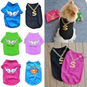 Hunde T-Shirt Hund Shirt Hundeshirt Welpe Mantel Pullover Kleidung Jacke Kleid