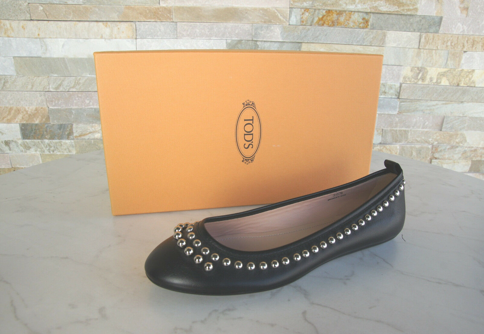 Tods Tod S Gr 37,5 Ballerinas Slip on Low shoes Black New Previously