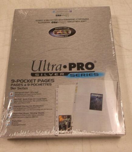 500 Ultra Pro Silver Series 9 Pocket Pages New Factory Sealed Verzamelkaarten: sport