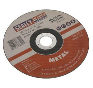 Sealey-150mm-x-22mm-Bore-Mini-Metal-Abrasive-Cut-Off-Chop-Saw-Blade-PTC-150C