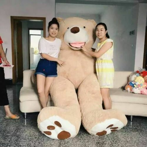 """78/"""" 200 cm Brown Giant Skin Bear Stuffed Toy Christmas Gift Free shipping+"""