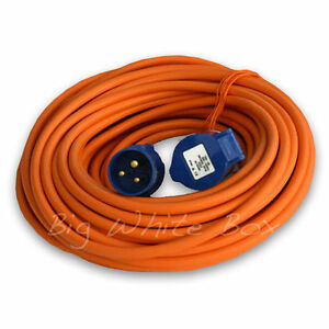 heavy duty mains lead with free cable reel caravan electric hook