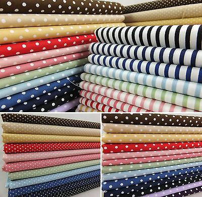 SB Basics Spots Stripes Check Polka Dot 100% Cotton Fabric
