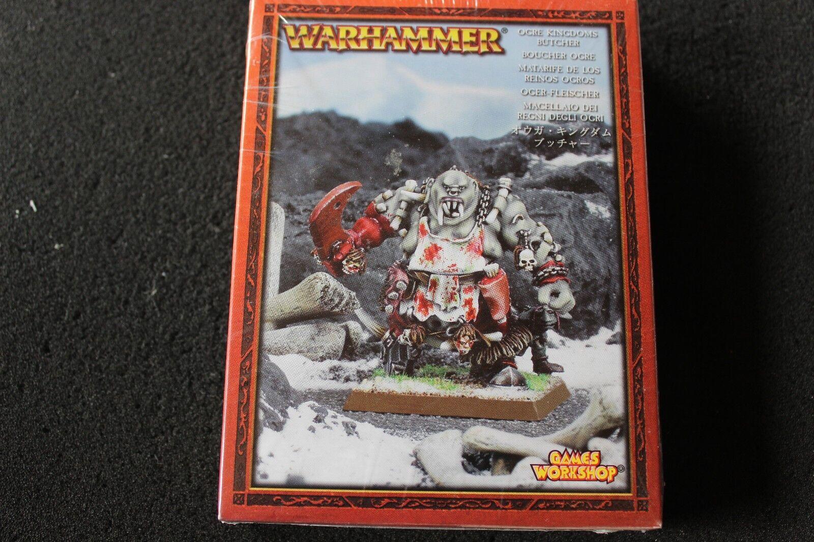 Games Workshop Warhammer Ogre Kingdoms Butcher New Sealed Metal Ogres OOP GW
