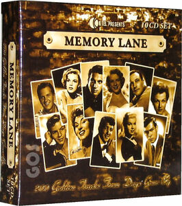 Details About Memory Lane 1950s Songs K Tel 10 CD 200 Classic Fifties Music Tracks New Sealed