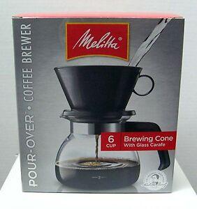 Filter Coffee Maker Manual : Melitta Manual 6-Cup Cone Filter Coffee Maker CM-6/4 NIB NEW 55437640442 eBay