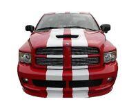 11 Vinyl Rally Stripes Racing Stripe + Bonus Kit For Dodge Ram 1500 2500 3500