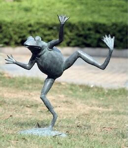 Image Is Loading Br Dancing Frog Water Spitter Pond Fountain Garden