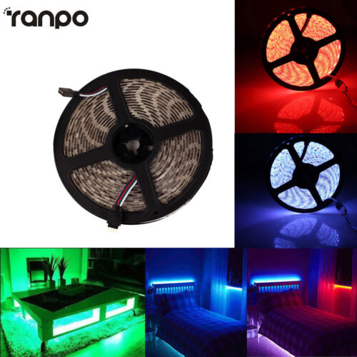 LED Strip Lights Waterproof 5M 12V White RGB Blue 300 LEDs Flexible Tape Lamp HL