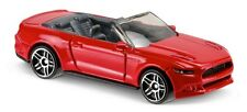 Hot Wheels Cars - 2015 Ford Mustang GT Covertible Red