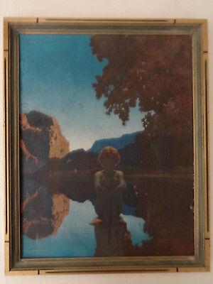 Original Maxfield Parrish Evening 1920's Framed Reinthal Newman Print Kitty Owen