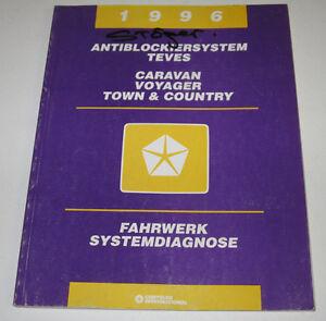 Werkstatthandbuch-Chrysler-Caravan-Voyager-Town-Country-Fahrwerk-Stand-1995