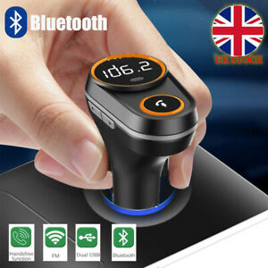 Wireless-Bluetooth-Car-MP3-Player-FM-Transmitter-with-Dual-USB-Charger-Adapter