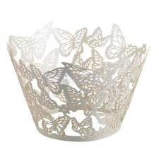 100x Filigree Butterfly Cup Cake Cupcake Wrappers Wraps Liners Wedding Party