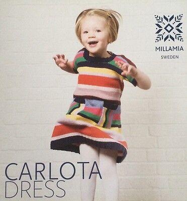 Millamia Nina Beautiful Swedish Knitted Dress Pattern 1-5 YRS New Free Postage