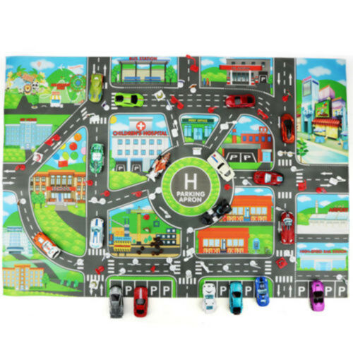 Map Educational Toys Toy Car Map 1pcs children Play Mat Road Buildings Kid Game