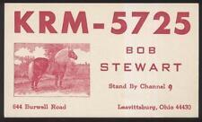 Postcard LEAVITTSBURG Ohio/OH  Ham Radio QSL Call Card 1960's
